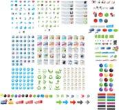 Coleção do gráfico do Web Fotografia de Stock