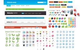 Coleção do gráfico do Web Imagem de Stock