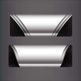 Coleção do grupo da bandeira - elemento metálico do aço e do favo de mel Foto de Stock