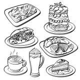 Coleção do grupo de chá ilustração do vetor