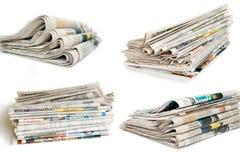 Coleção do jornal foto de stock
