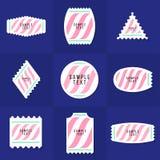 Coleção do logotipo da amostra e do selo postal do texto Imagem de Stock Royalty Free