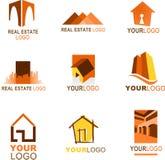 Coleção do logotipo dos bens imobiliários ilustração royalty free