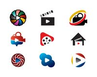 coleção do logotipo do filme ilustração stock