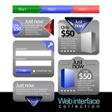 Coleção do material do Web Imagem de Stock