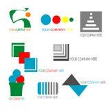 Coleção do molde colorido do logotipo do negócio ilustração do vetor