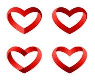 Coleção do molde do logotipo do coração Foto de Stock