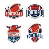 Coleção do molde do logotipo do futebol americano Fotografia de Stock Royalty Free