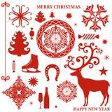 Coleção do Natal Imagem de Stock Royalty Free