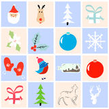 Coleção do Natal Foto de Stock