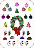 Coleção do Natal e do ano novo Foto de Stock