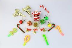 Coleção do Natal e Santa Claus 2017 Foto de Stock