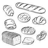 Coleção do pão ilustração do vetor
