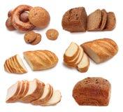 Coleção do pão cozido fotografia de stock royalty free