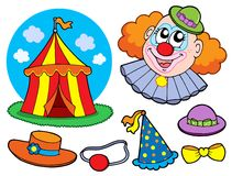 Coleção do palhaço de circo ilustração do vetor