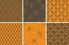 Coleção do papel de parede floral sem emenda ilustração do vetor