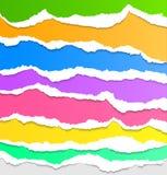 Coleção do papel rasgado colorido Fotografia de Stock Royalty Free