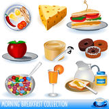 Coleção do pequeno almoço Fotos de Stock Royalty Free