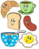Coleção do pequeno almoço dos desenhos animados Foto de Stock Royalty Free