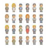 Coleção do pixel de povos de sorriso Fotos de Stock Royalty Free