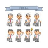 Coleção do pixel para o negócio Imagem de Stock