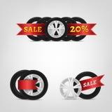 Coleção do pneu de Vecor Imagem de Stock Royalty Free