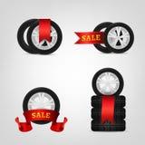 Coleção do pneu de Vecor Fotos de Stock Royalty Free