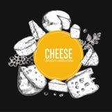 Coleção do queijo Vetor 4 Imagens de Stock Royalty Free