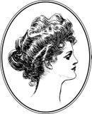 Coleção #3 do retrato da mulher do vintage ilustração royalty free