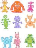 Coleção do robô Foto de Stock Royalty Free