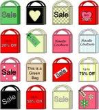 Coleção do saco de compra dos vetores Imagens de Stock