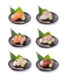 Coleção do Sashimi japonês Fotografia de Stock