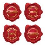 Coleção do selo da cera da garantia Imagens de Stock Royalty Free