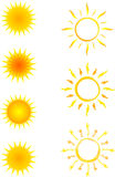 Coleção do sol dos ícones Foto de Stock