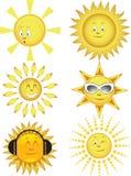 Coleção do sol. Ilustração do vetor Foto de Stock Royalty Free