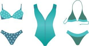 Coleção do Swimsuit. Imagem de Stock Royalty Free