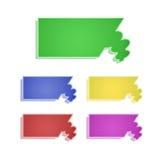 Coleção do Tag Imagem de Stock