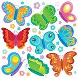 Coleção do tema da borboleta Fotos de Stock
