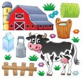 Coleção 1 do tema da vaca ilustração do vetor