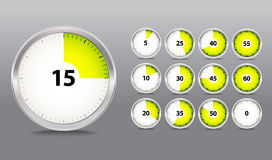 Coleção do temporizador Imagens de Stock