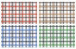 Coleção do teste padrão à moda escocês Fotos de Stock Royalty Free