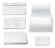 Coleção do vário Livro Branco vazio no fundo branco. Fotos de Stock