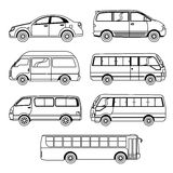 Coleção do veículo do transporte Fotografia de Stock Royalty Free