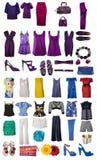 Coleção do vestido e das sapatas Foto de Stock Royalty Free