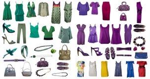 Coleção do vestido e das sapatas Imagem de Stock