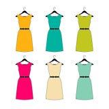 Coleção do vestido Estilo do vintage Imagens de Stock