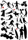 Coleção do vetor 3 dos esportes ilustração stock