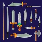 Coleção do vetor da arma das facas Foto de Stock Royalty Free