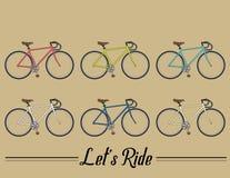 Coleção do vetor da bicicleta Fotografia de Stock Royalty Free