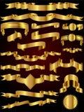 Coleção do vetor da fita do ouro Imagem de Stock Royalty Free